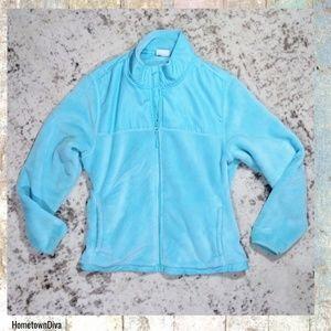 Danskin Now XL Fuzzy Jacket Turquoise